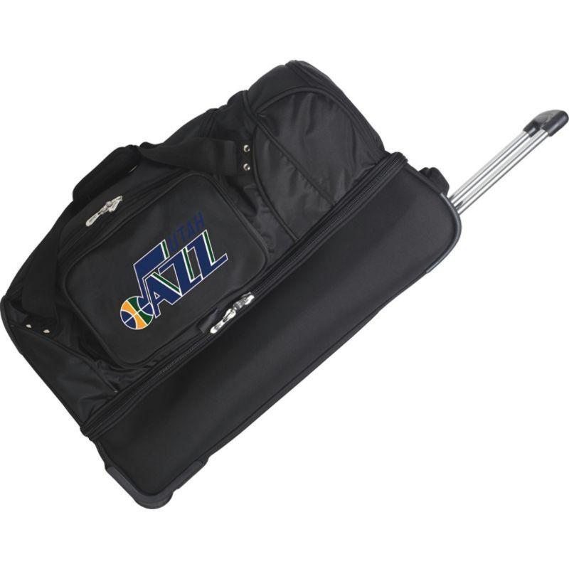 デンコスポーツ メンズ スーツケース バッグ NBA 27 Drop Bottom Wheeled Duffel Bag Utah Jazz