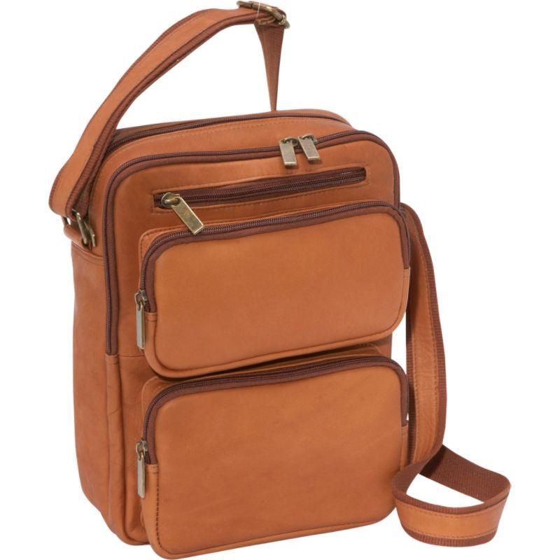 ルドネレザー メンズ ショルダーバッグ バッグ Multi Pocket iPad / eReader Day Bag Tan