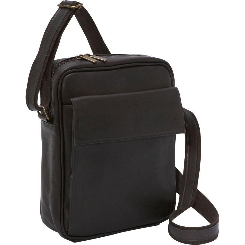 ルドネレザー メンズ ショルダーバッグ バッグ iPad / eReader Carry All Bag Cafe