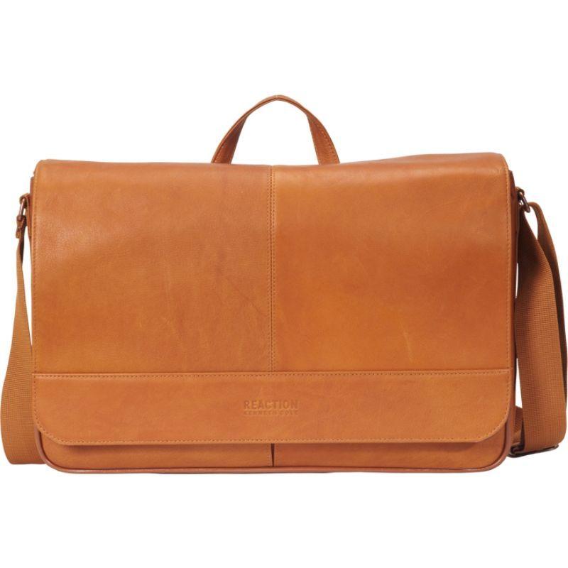 ケネスコール メンズ スーツケース バッグ Come Bag Soon - Colombian Leather Laptop & iPad Messenger - eBags Exclusive Cognac