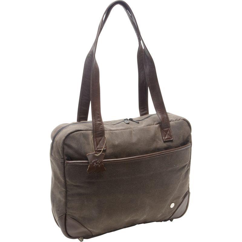 トーケン メンズ スーツケース バッグ Hudson Waxed Shoulder Bag Dark Brown