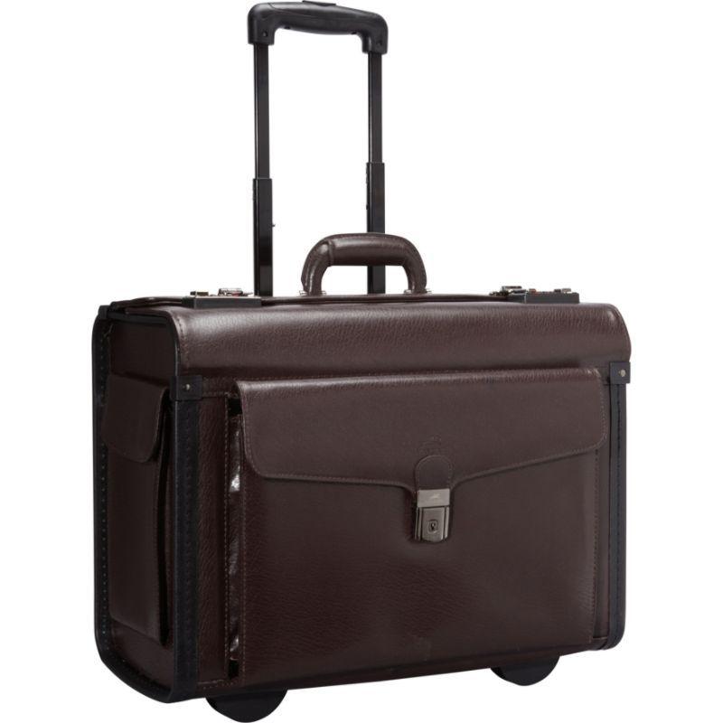 マンシニレザーグッズ メンズ スーツケース バッグ Deluxe Wheeled 17 Laptop Catalog Case Burgundy