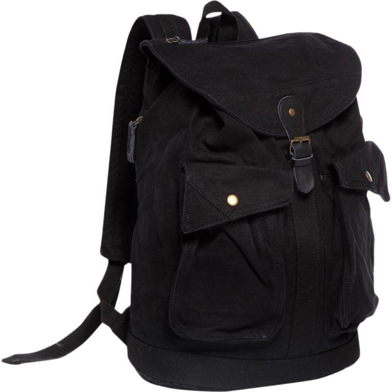 ヴァガボンドトラベラー メンズ バックパック・リュックサック バッグ Classic Style Canvas Backpack Black