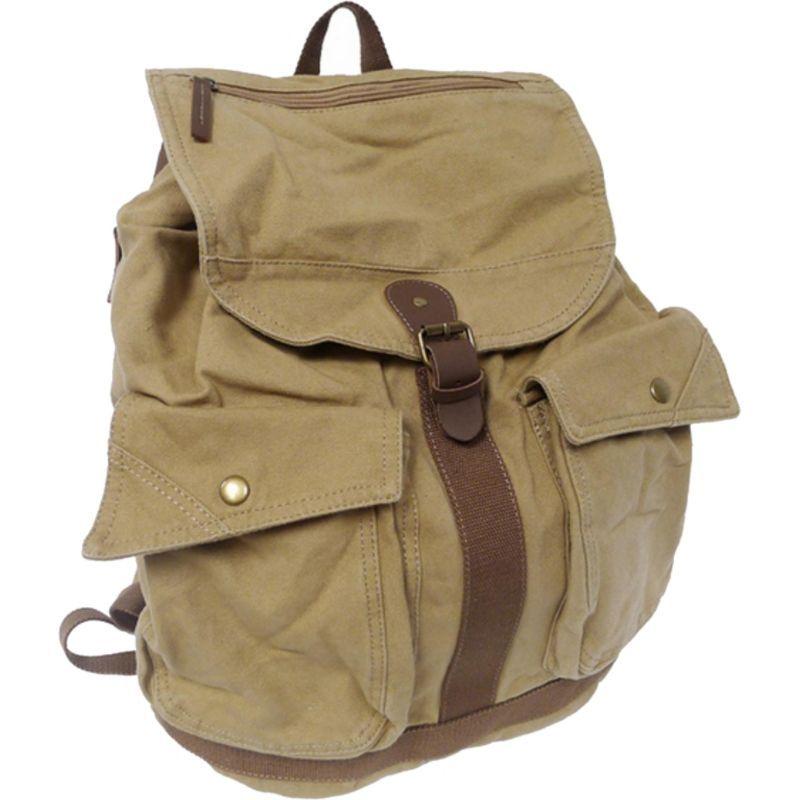 ヴァガボンドトラベラー メンズ バックパック・リュックサック バッグ Classic Style Canvas Backpack Khaki