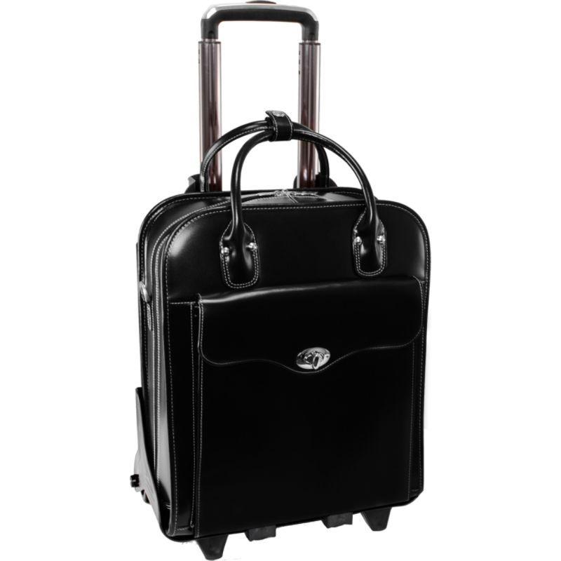マックレイン メンズ スーツケース バッグ Melrose 15 Vertical Rolling Leather Laptop Tote EXCLUSIVE Black