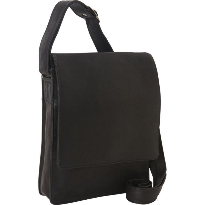 デレクアレクサンダー メンズ ショルダーバッグ バッグ NS 3/4 Flap Unisex Organizer Bag Black