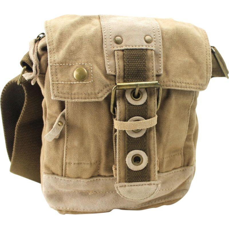 ヴァガボンドトラベラー メンズ ショルダーバッグ バッグ Tall 9 Small Satchel Shoulder Bag Khaki