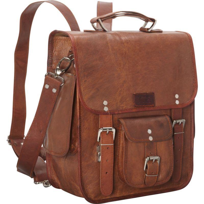 シャロレザーバッグス メンズ スーツケース バッグ Long Three-in-One Backpack/Brief/Messenger Brown