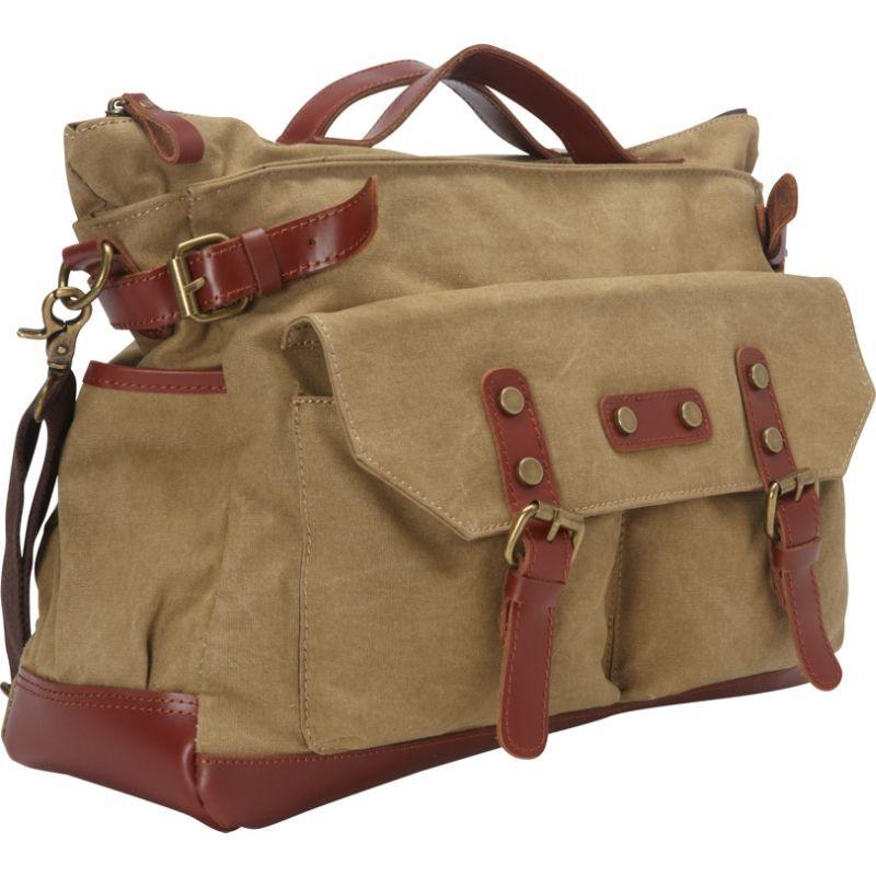 ヴァガボンドトラベラー メンズ ショルダーバッグ バッグ Classic Antique Style Large Cotton Canvas Bag Khaki
