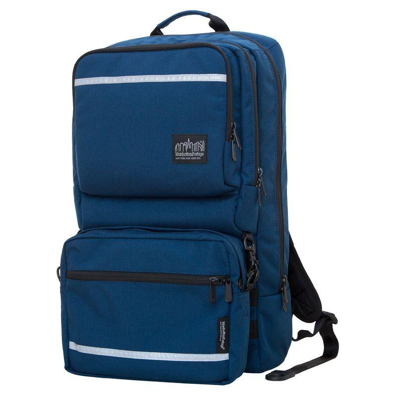 マンハッタンポーテージ メンズ スーツケース バッグ Metro Tech Laptop Backpack Navy