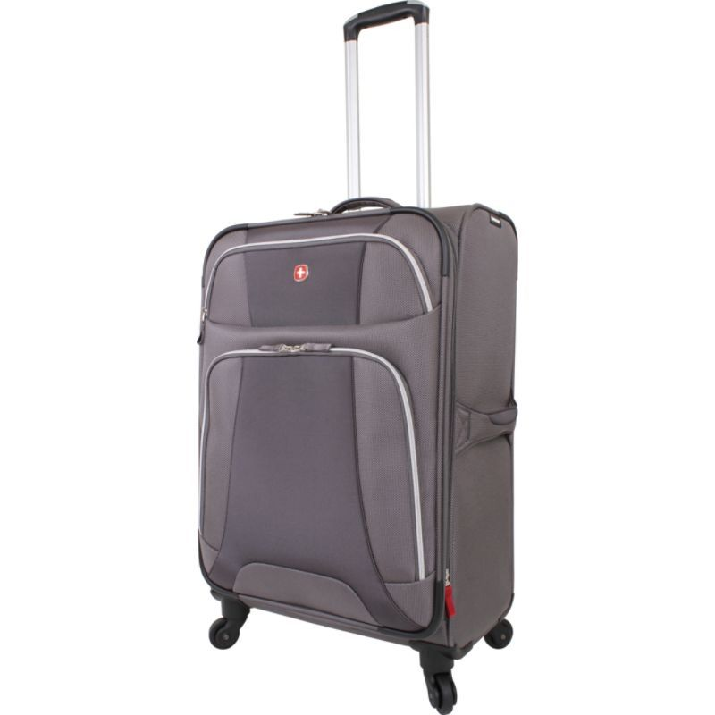 スイスギアトラベルギア メンズ スーツケース バッグ 7362 Monte Leone 24.5 Spinner Dark Grey