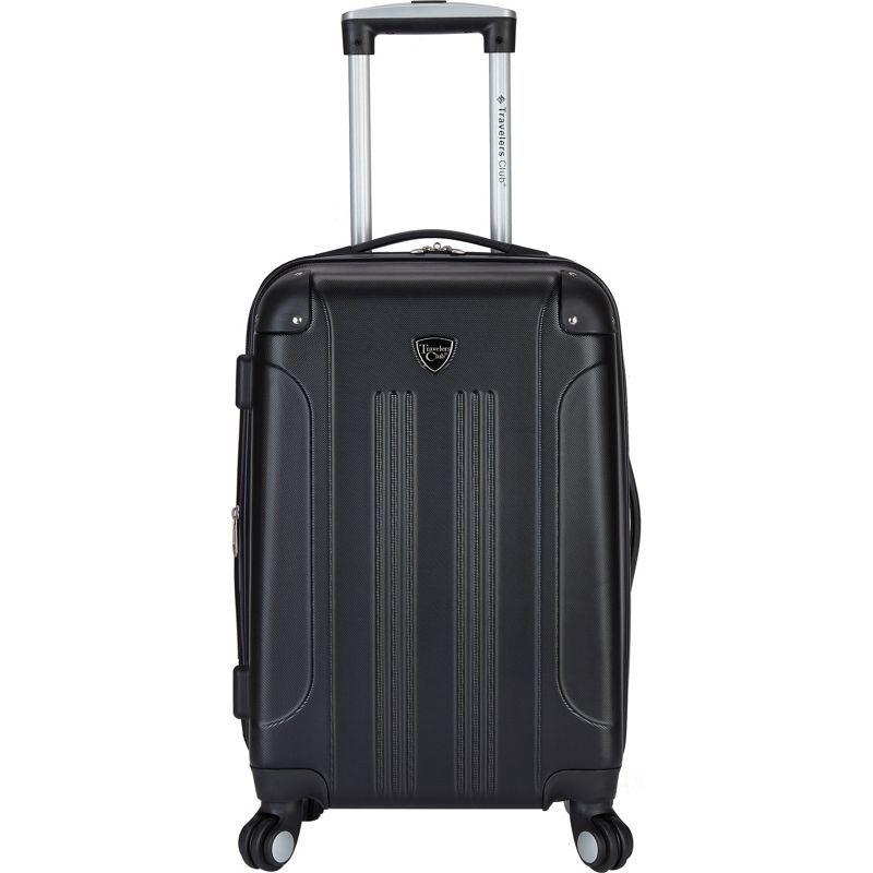 トラベラーズクラブ メンズ スーツケース バッグ Chicago 20 Hardside Exp. Spinner Carry-On Black