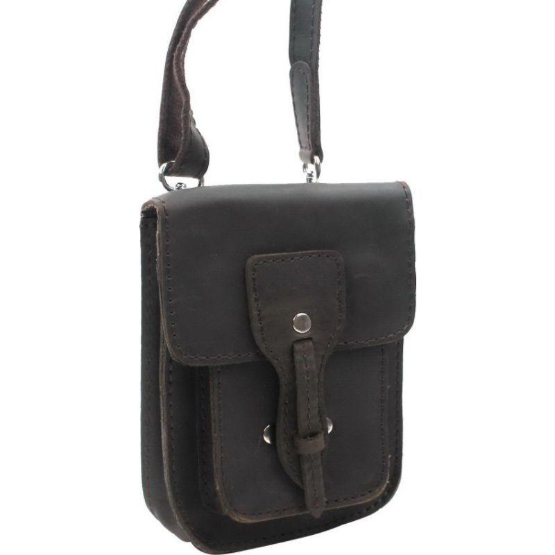 ヴァガボンドトラベラー メンズ ボディバッグ・ウエストポーチ バッグ 8.5 Slim Leather Sling Bag Dark Brown