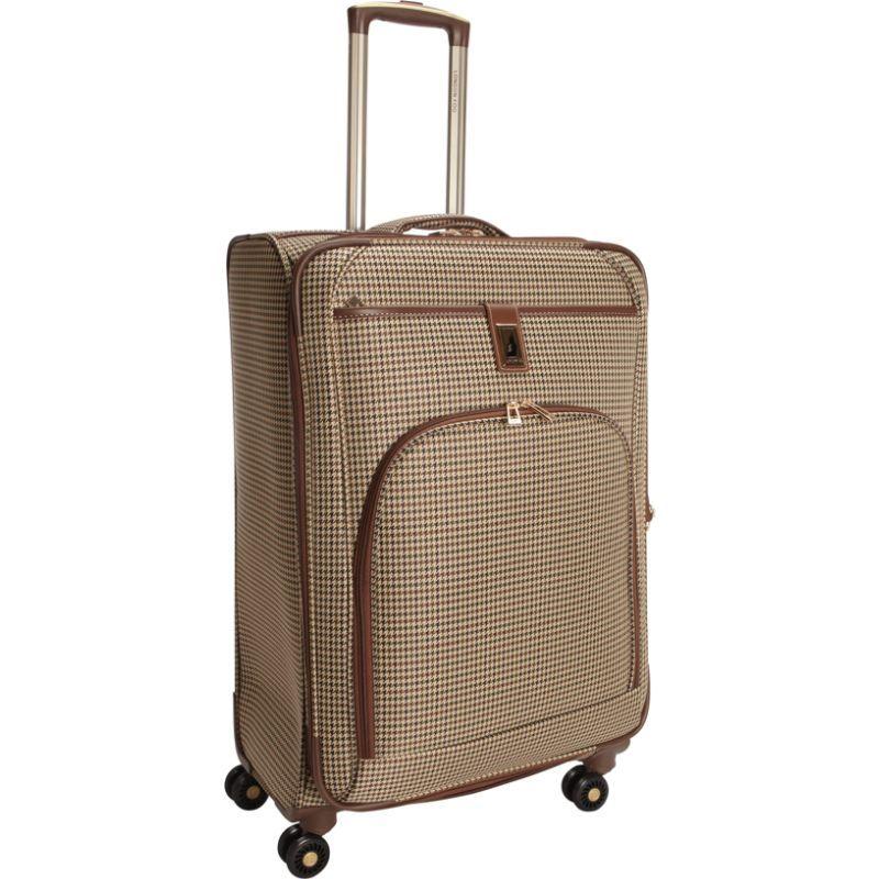 ロンドンフォグ メンズ スーツケース バッグ Cambridge 25 Expandable Spinner Olive Plaid Houndstooth