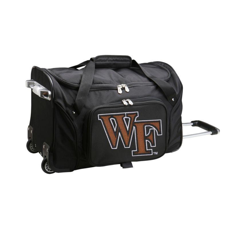 デンコスポーツ メンズ スーツケース バッグ NCAA 22 Rolling Duffel Wake Forest University Demon Deacons