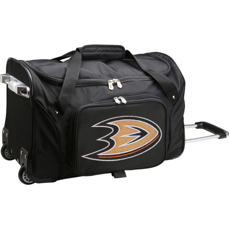 デンコスポーツ メンズ スーツケース バッグ NHL 22 Rolling Duffel Anaheim Mighty Ducks