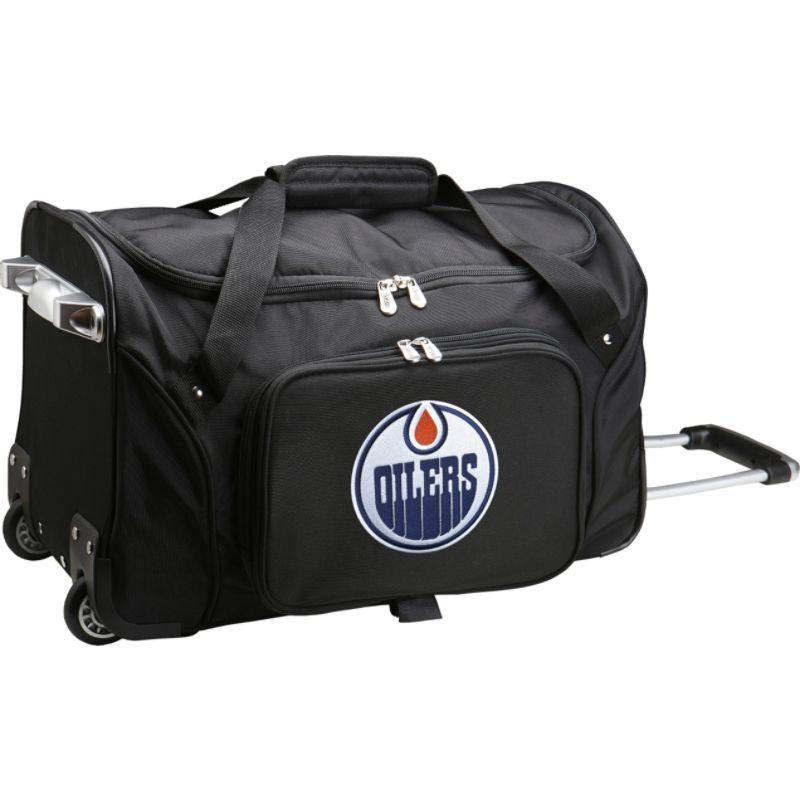 デンコスポーツ メンズ スーツケース バッグ NHL 22 Rolling Duffel Edmonton Oilers