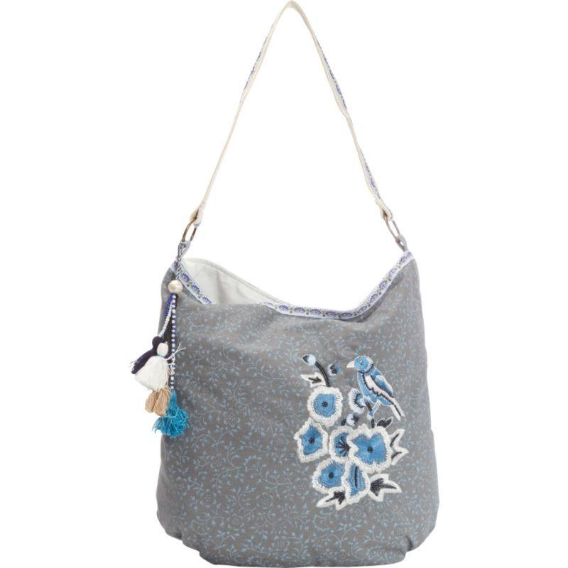 スカーリー メンズ ショルダーバッグ バッグ Cotton Floral Print Shoulder Bag Blue