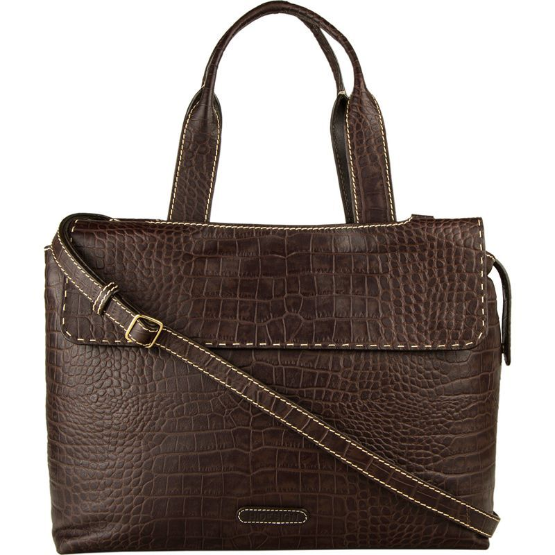 ハイデザイン レディース スーツケース バッグ Women's Leather Laptop Work Bag Brown