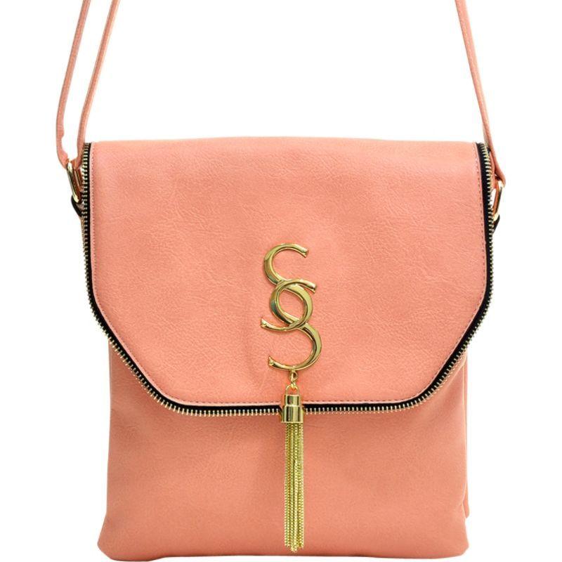 ダセイン メンズ ボディバッグ・ウエストポーチ バッグ Double Pocket Tassel Messenger Bag Light Pink