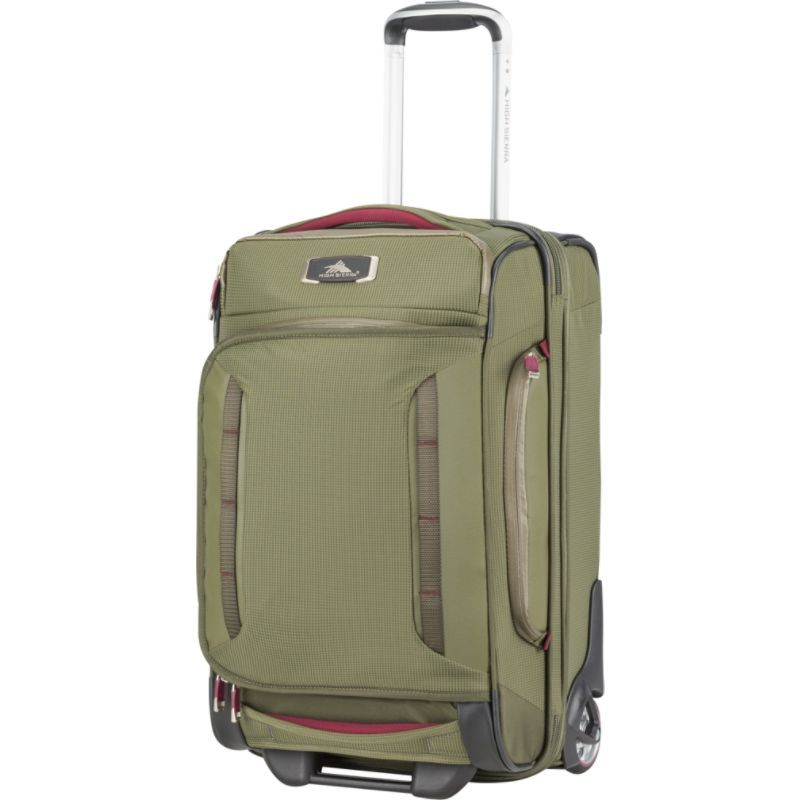 ハイシエラ メンズ スーツケース バッグ AT8 Carry-On Wheeled Duffel Upright Olive/Cranberry