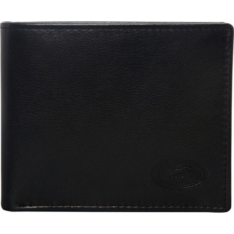 マンシニレザーグッズ メンズ 財布 アクセサリー Mens RFID Secure Left Wing Wallet Black