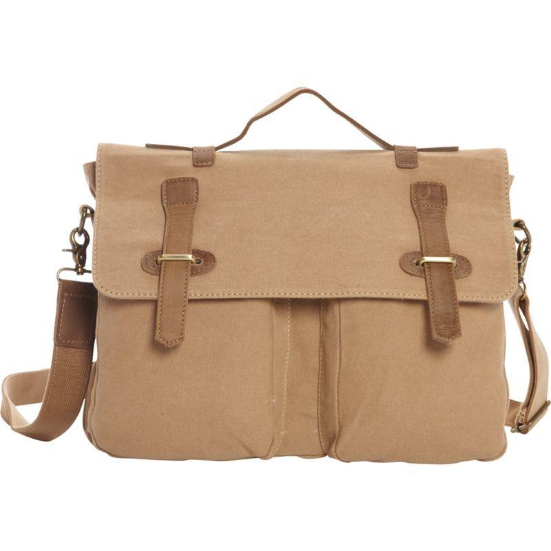 ヴァガボンドトラベラー メンズ ショルダーバッグ バッグ Casual Style Canvas Laptop Messenger Bag Khaki