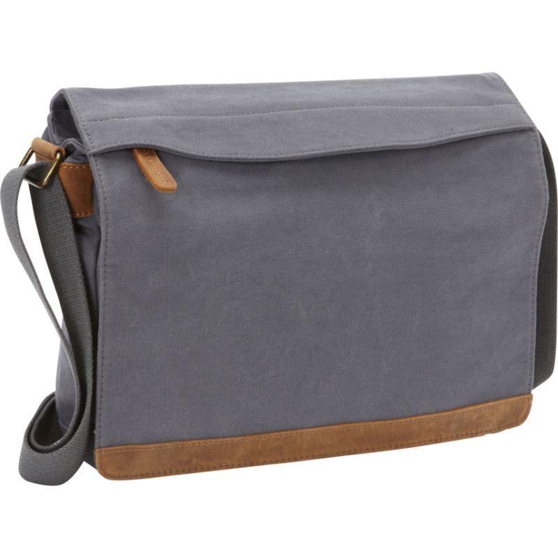 ヴァガボンドトラベラー メンズ ショルダーバッグ バッグ Casual Style Canvas Messenger Bag Blue Grey