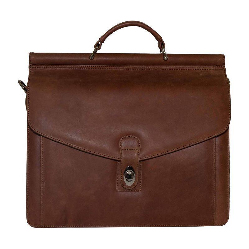 ビンセンゾレザー メンズ ショルダーバッグ バッグ Rushmore Full Grain Leather Briefcase Brown