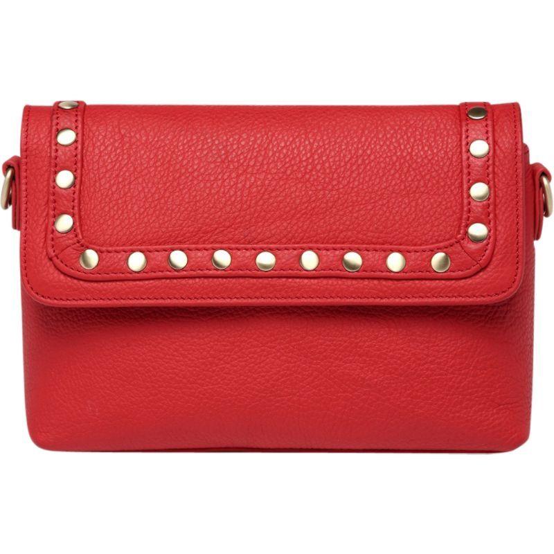 ビンセンゾレザー メンズ ボディバッグ・ウエストポーチ バッグ Angelique Leather Convertible Crossbody Red