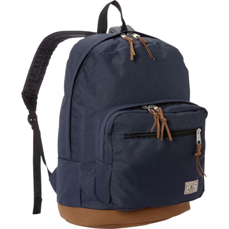 エバーレスト メンズ バックパック・リュックサック バッグ Suede Bottom Daypack with Laptop Pocket Navy