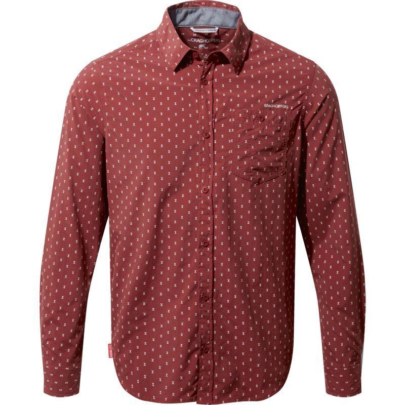 クラッグホッパーズ メンズ シャツ トップス NosiLife Todd Long Sleeve Shirt Carmine Combo