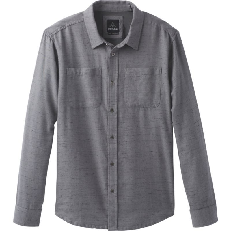 プラーナ メンズ シャツ トップス Trey Long Sleeve Flannel Gravel