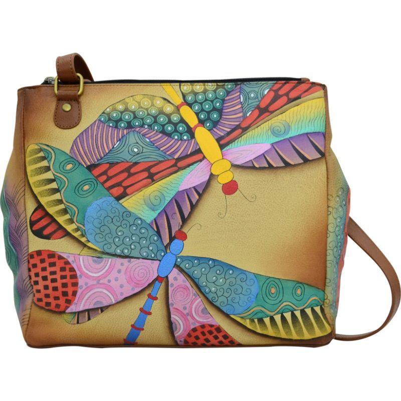 アンナバイアナシュカ メンズ トートバッグ バッグ Hand Painted Multi Compartment Organizer Tote Dancing Dragonflies