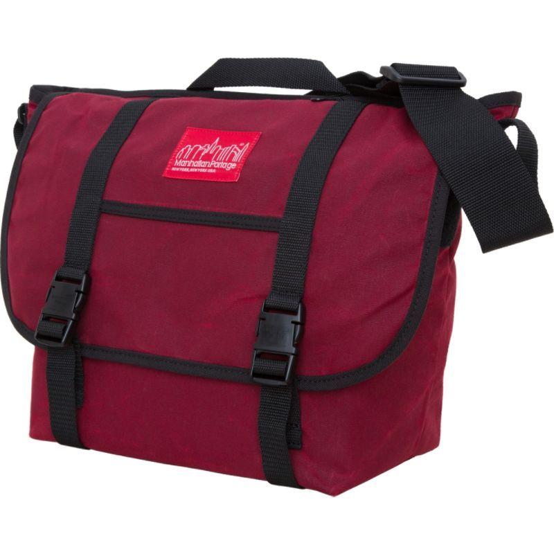 マンハッタンポーテージ メンズ ショルダーバッグ バッグ Waxed Canvas Messenger Bag - Medium Red