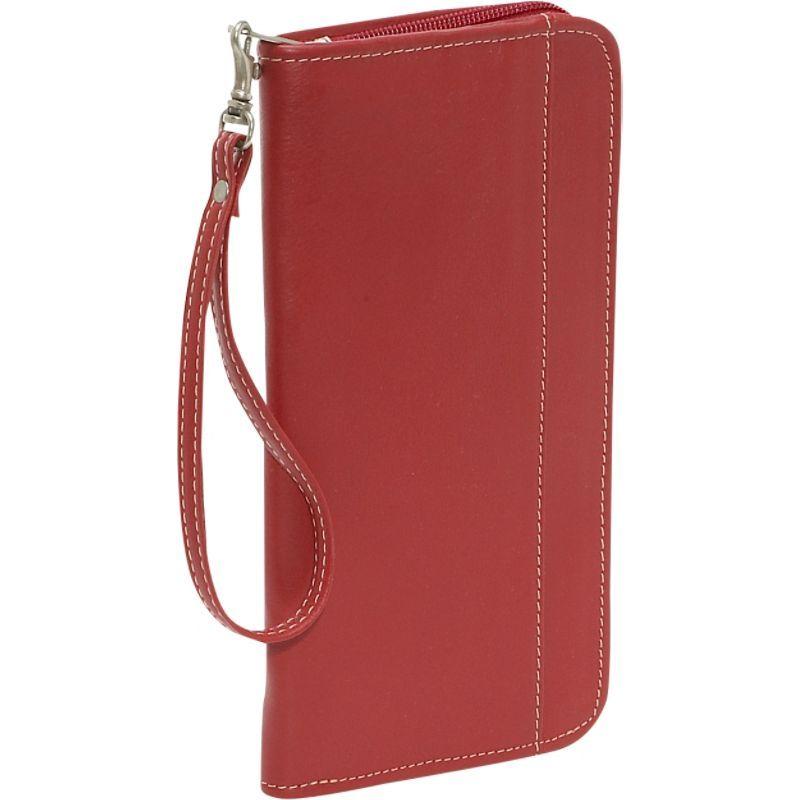 ピエール メンズ 財布 アクセサリー Zippered Passport/Ticket Holder Red