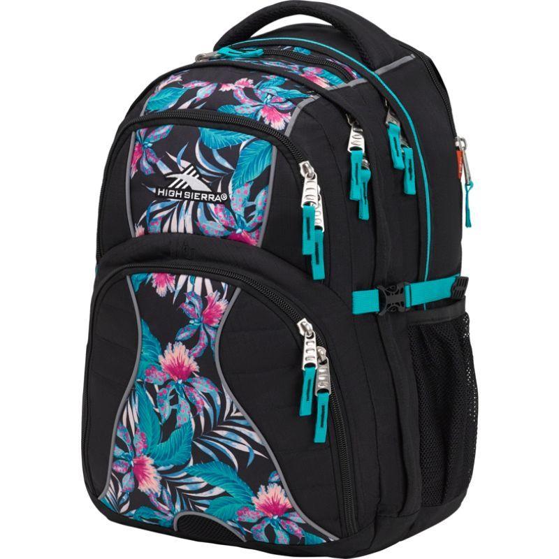 ハイシエラ メンズ バックパック・リュックサック バッグ Swerve Laptop Backpack - 15 Black/Tropic Nights/Turquoise