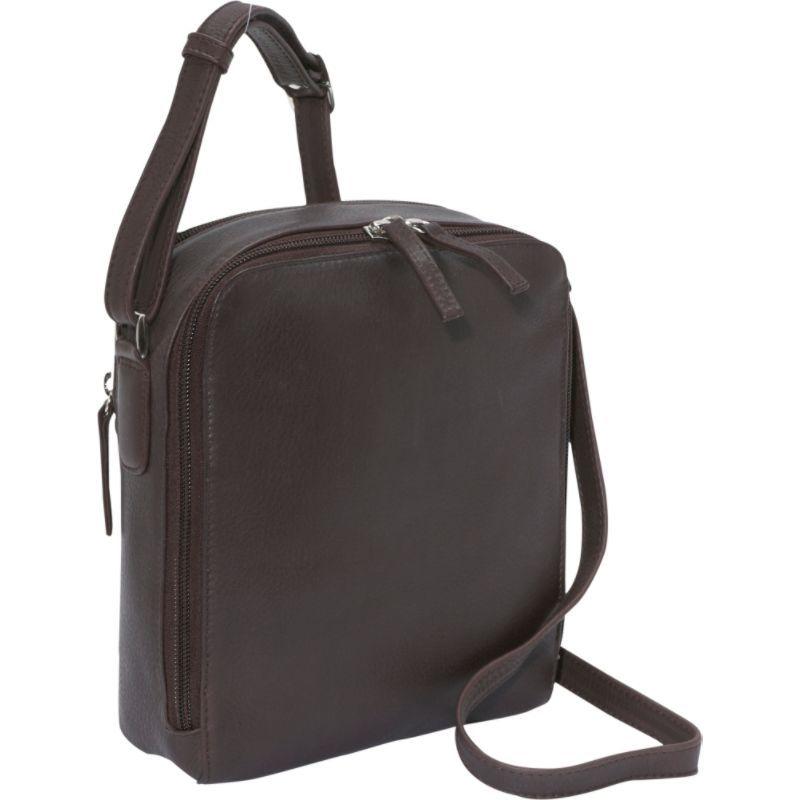 デレクアレクサンダー メンズ ボディバッグ・ウエストポーチ バッグ Two Top Zip Camera Bag Brown