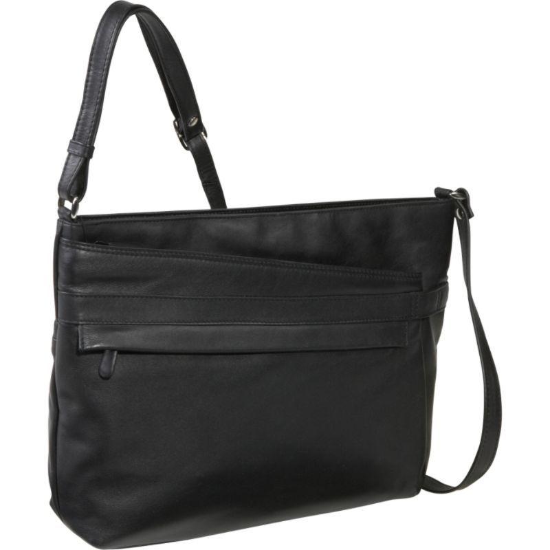 デレクアレクサンダー メンズ ショルダーバッグ バッグ EW Top Zip Shoulder Bag Black
