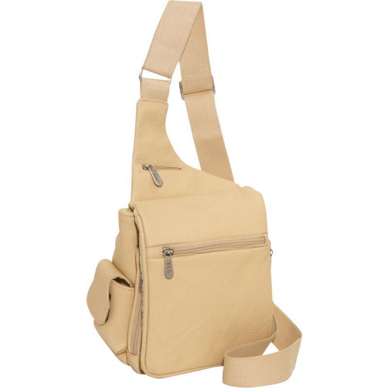 アメリ メンズ ショルダーバッグ バッグ Leather Convenient Travel Bag Beige
