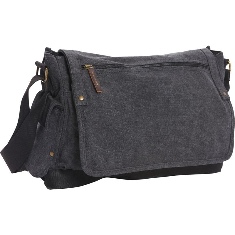 ヴァガボンドトラベラー メンズ ショルダーバッグ バッグ Casual Style Canvas Messenger Bag Grey