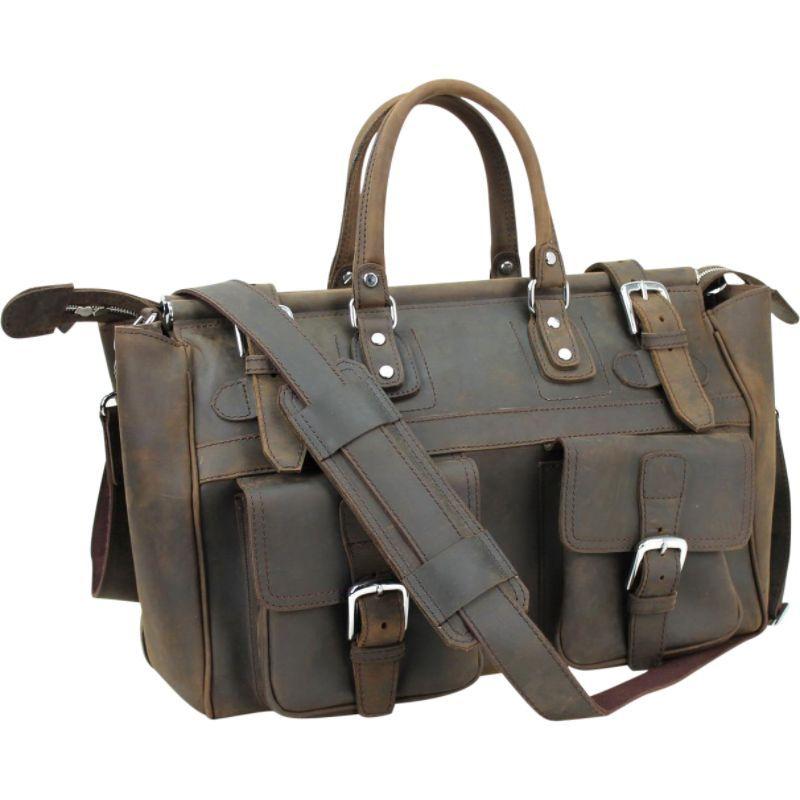 ヴァガボンドトラベラー メンズ スーツケース バッグ 21 Classic Leather Overnight Bag Dark Brown