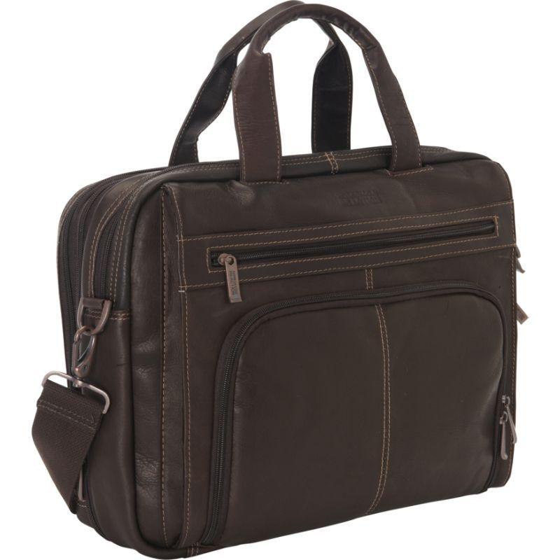ケネスコール メンズ スーツケース バッグ Colombian Leather RFID Laptop Portfolio - EXCLUSIVE Brown
