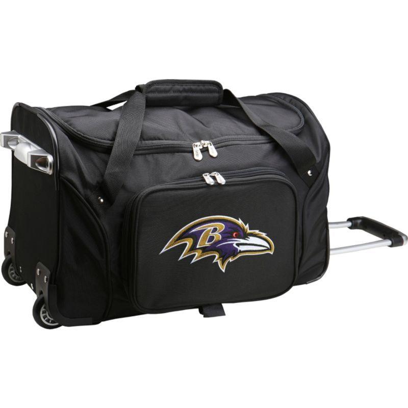 デンコスポーツ メンズ スーツケース バッグ NFL 22 Rolling Duffel Baltimore Ravens