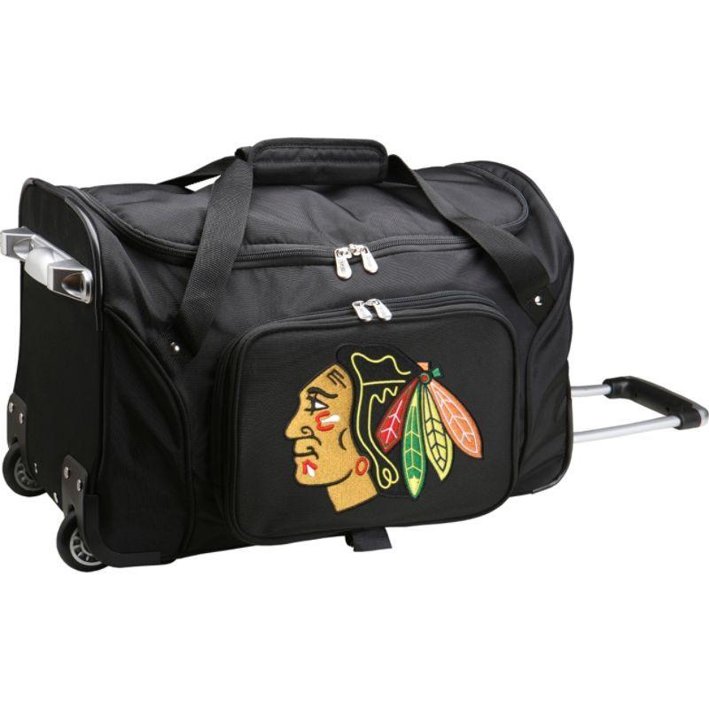 デンコスポーツ メンズ スーツケース バッグ NHL 22 Rolling Duffel Chicago Blackhawks