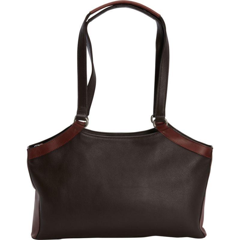 デレクアレクサンダー メンズ ショルダーバッグ バッグ E/W Triple Compartment Shoulder Bag Brown/Brandy