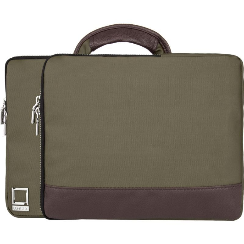 レンッカ メンズ スーツケース バッグ Divisio Laptop/Tablet Top-Handle Sleeve Forest Green / Espresso Brown