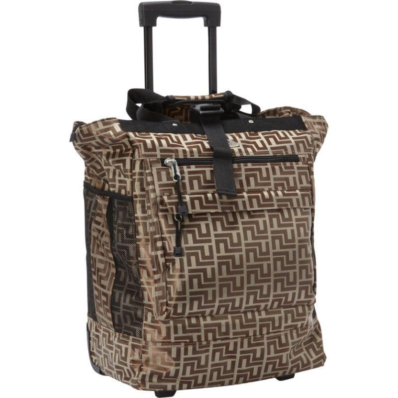 エバーレスト メンズ スーツケース バッグ Rolling Tote Brown