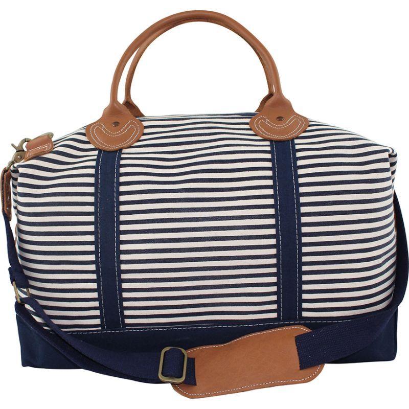 シービーステーション メンズ スーツケース バッグ Weekender Bag Navy Stripes