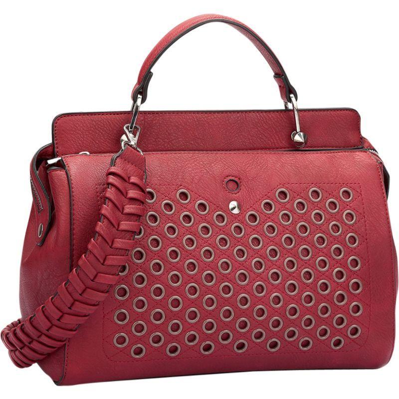 ダセイン メンズ ショルダーバッグ バッグ Designer Holes and Weave Strap Shoulder Bag Red